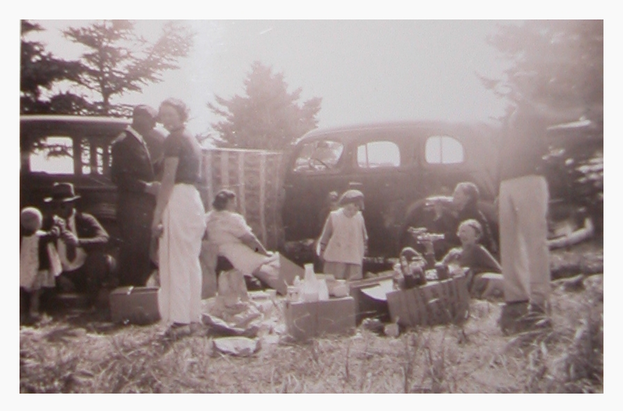 My Mom's family, having a Thanksgiving Day Picnic in the 1940's.