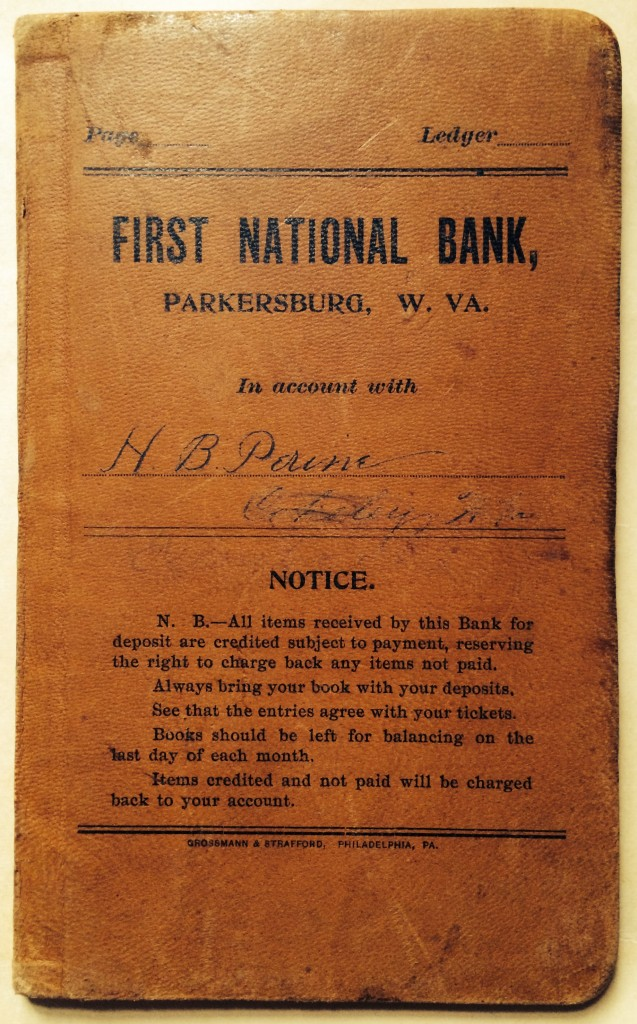 Bank account book of Henry Burton Perine.