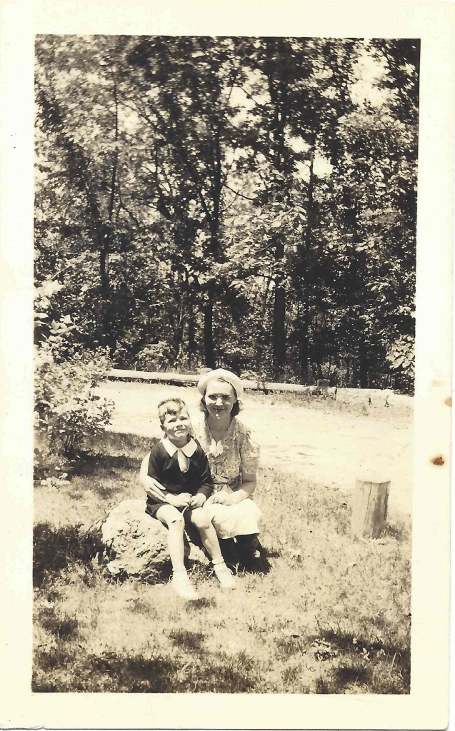 My Dad with his Mom at a park in Pittsburg, PA